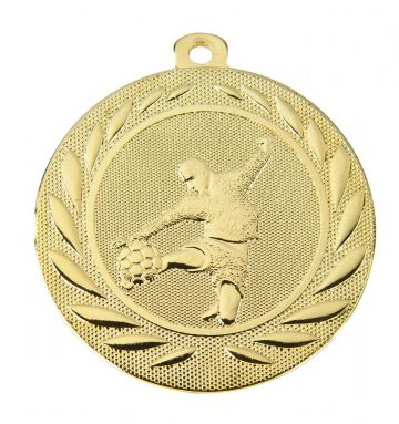 DI5000C 50MM Embossed Football Medal & Ribbon ( Box Qty 600) from only £312.00 = £0.52 each